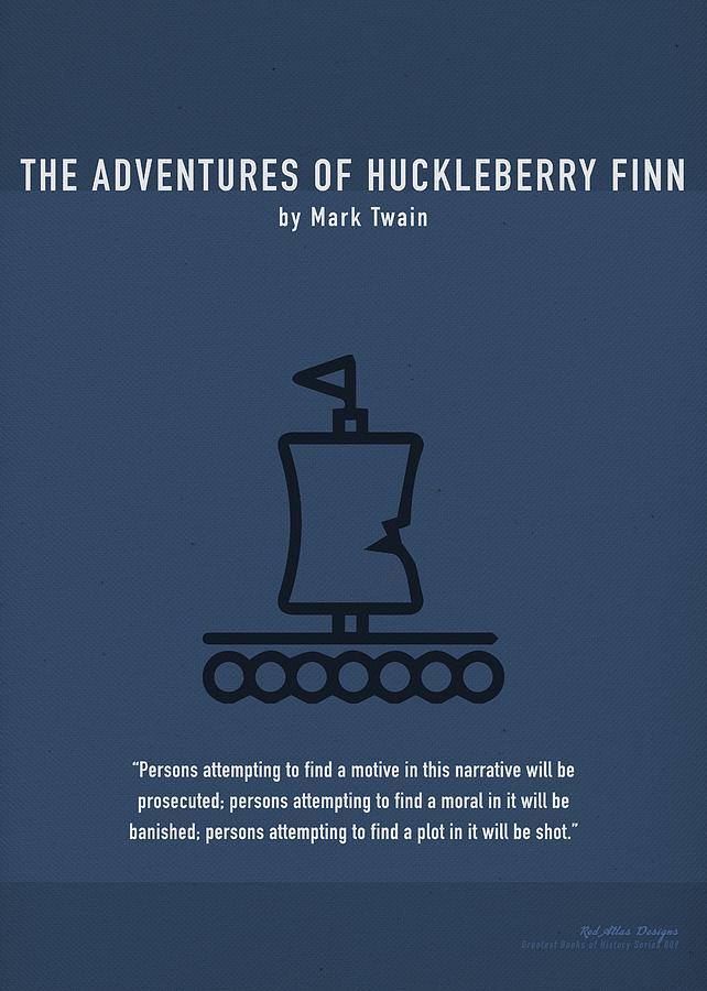 Huck Finn Mixed Media - The Adventures Of Huckleberry Finn Greatest Books Ever Series 009 by Design Turnpike