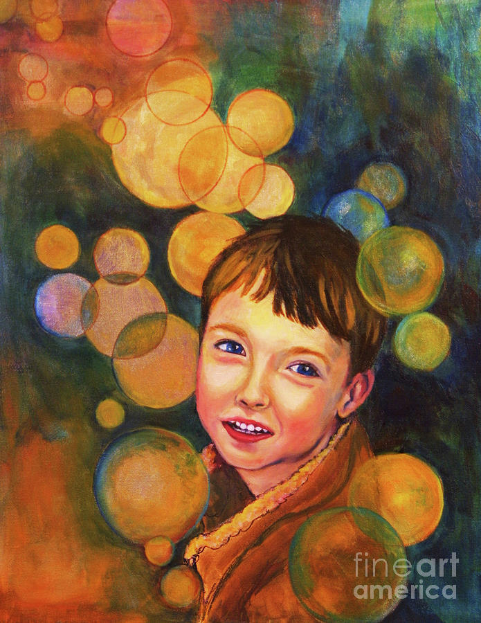 Boy Painting - The Afterglow by Angelique Bowman