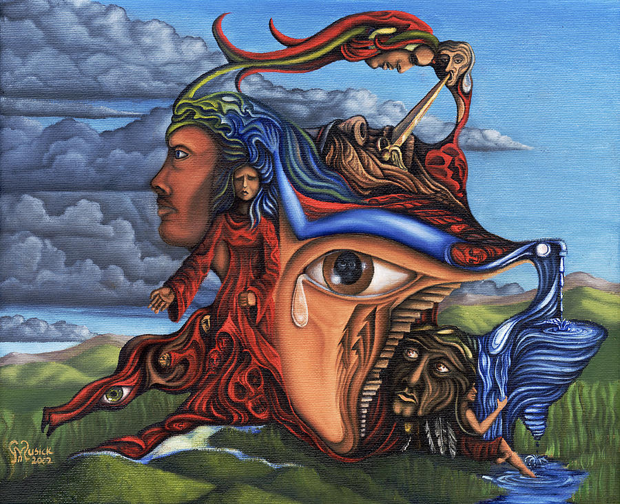 Surreal Painting - The Aftermath by Karen Musick