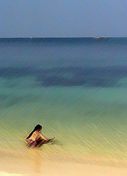 Sea Photograph - The Afternoon Swim 2 by Padamvir Singh