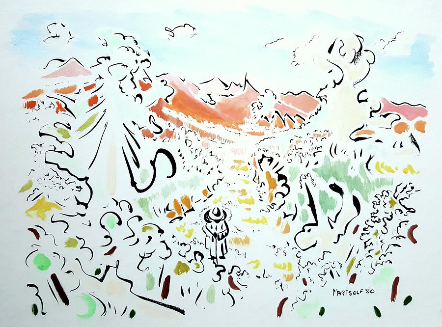 Abstract Painting - The Afternoon Walk by Dave Martsolf