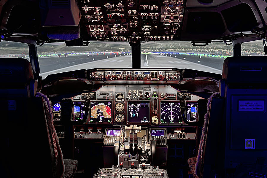 737 Photograph - The Airline Pilot Office by JC Findley
