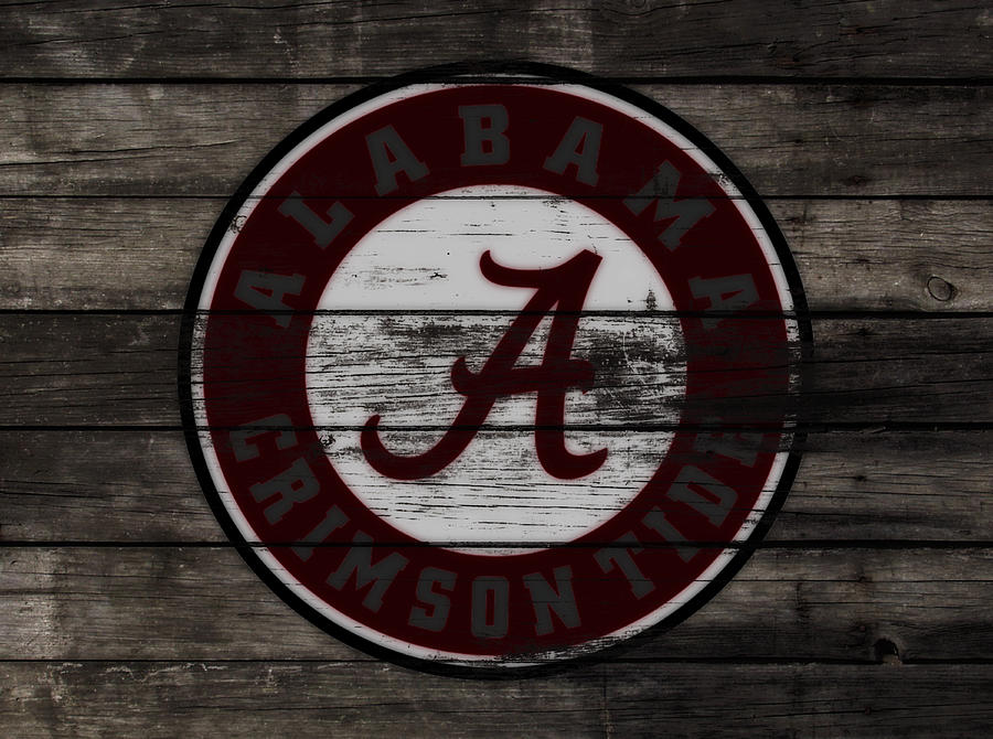 Wood Mixed Media - The Alabama Crimson Tide 3a             by Brian Reaves