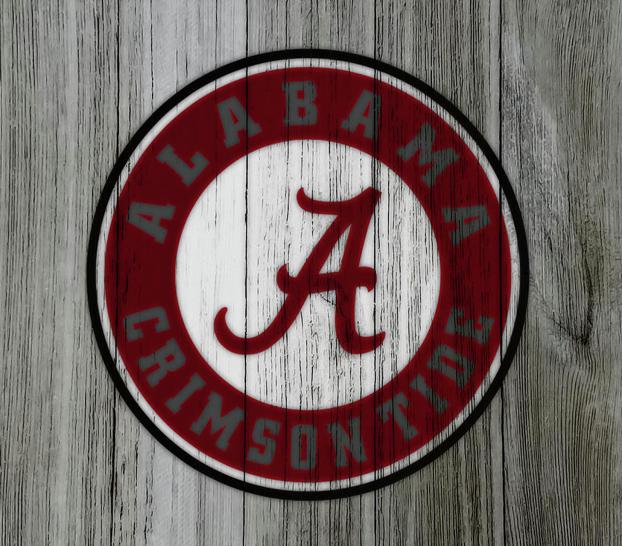 Wood Mixed Media - The Alabama Crimson Tide C1             by Brian Reaves
