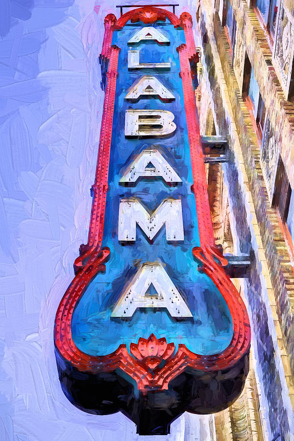The Alabama Theater Photograph - The Alabama Theater by JC Findley