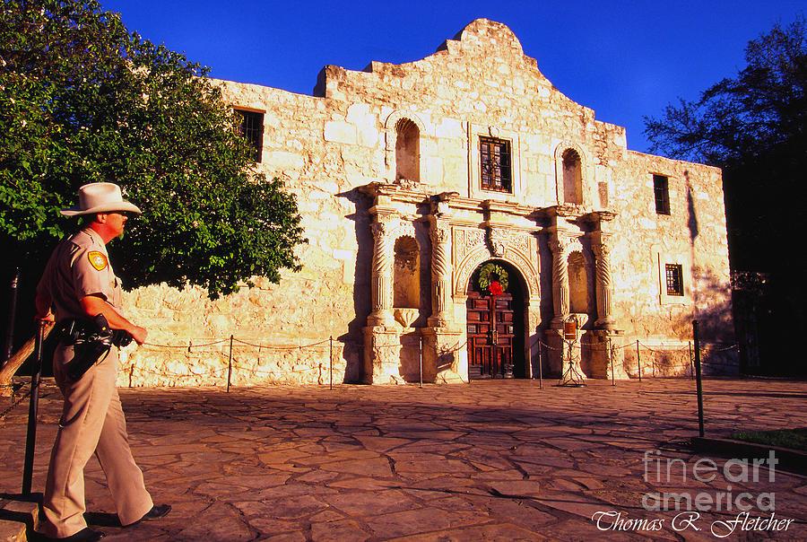 The Alamo Photograph - The Alamo And Ranger by Thomas R Fletcher