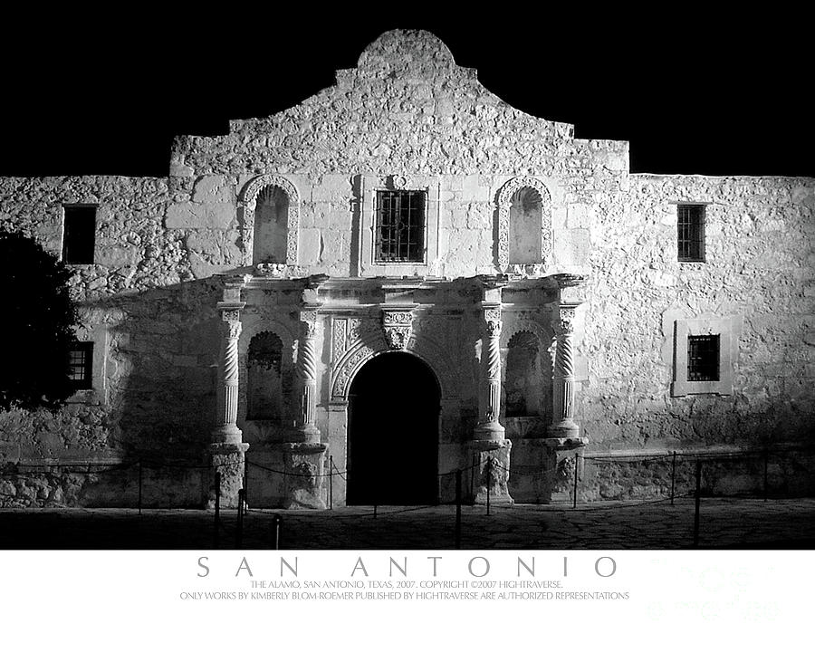 The Alamo At Night San Antonio Texas Photograph