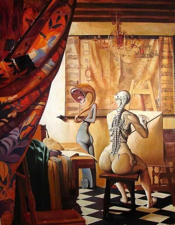 Allegory Painting - The Allegory of Painting by Adrian Borda