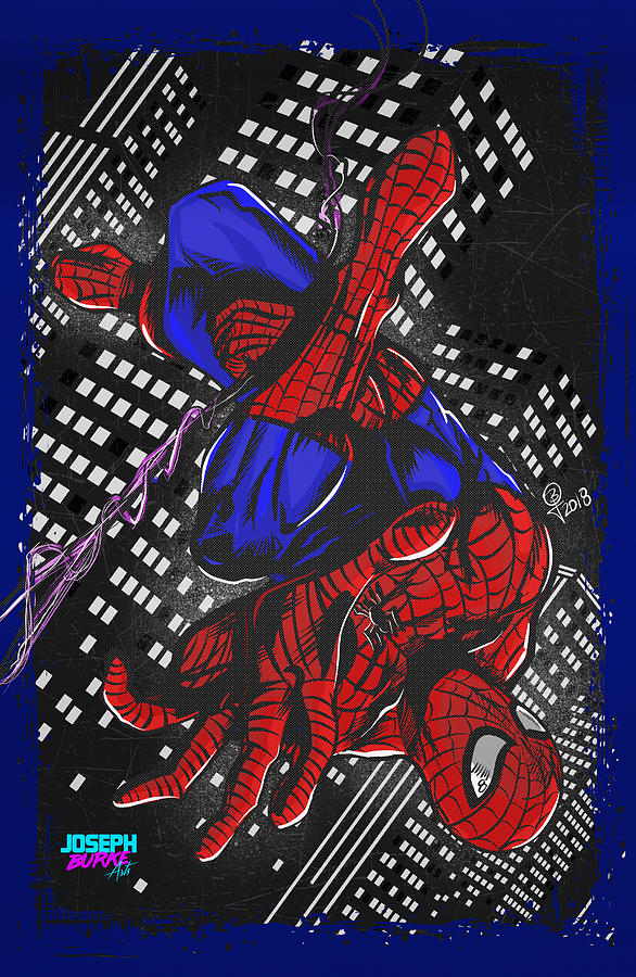 Marvel Comics Digital Art - The Amazing Spider-man by Joseph Burke