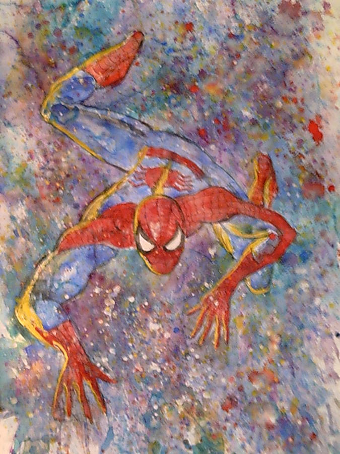 The Amazing Spider Man Painting - The Amazing Spider Man by Robert Hogg