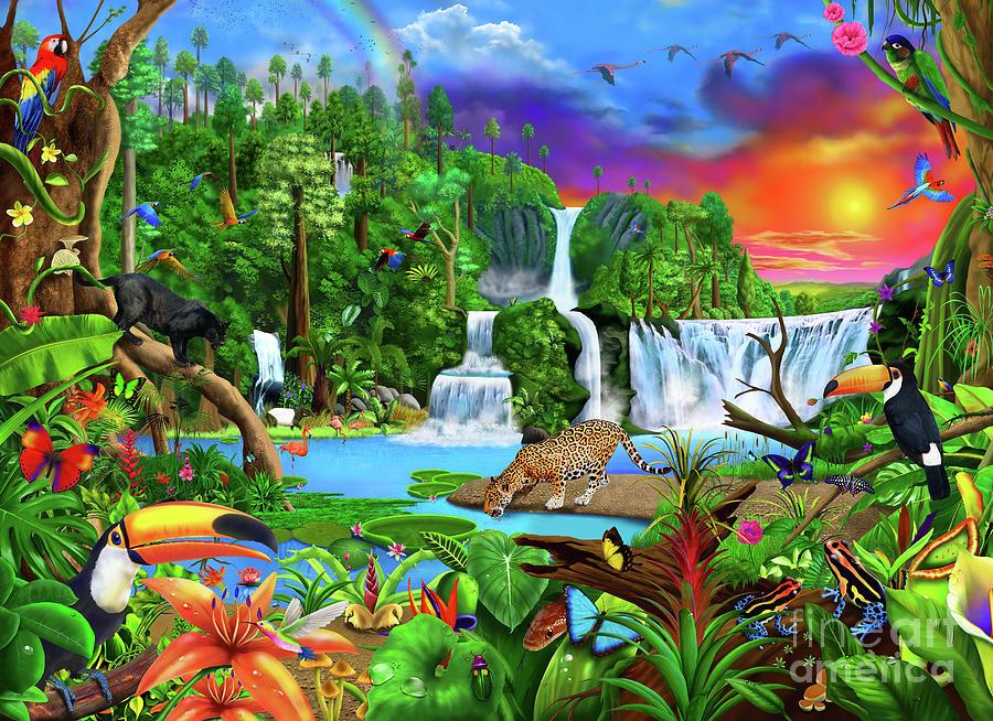 Amazon Digital Art - The Amazon by MGL Meiklejohn Graphics Licensing