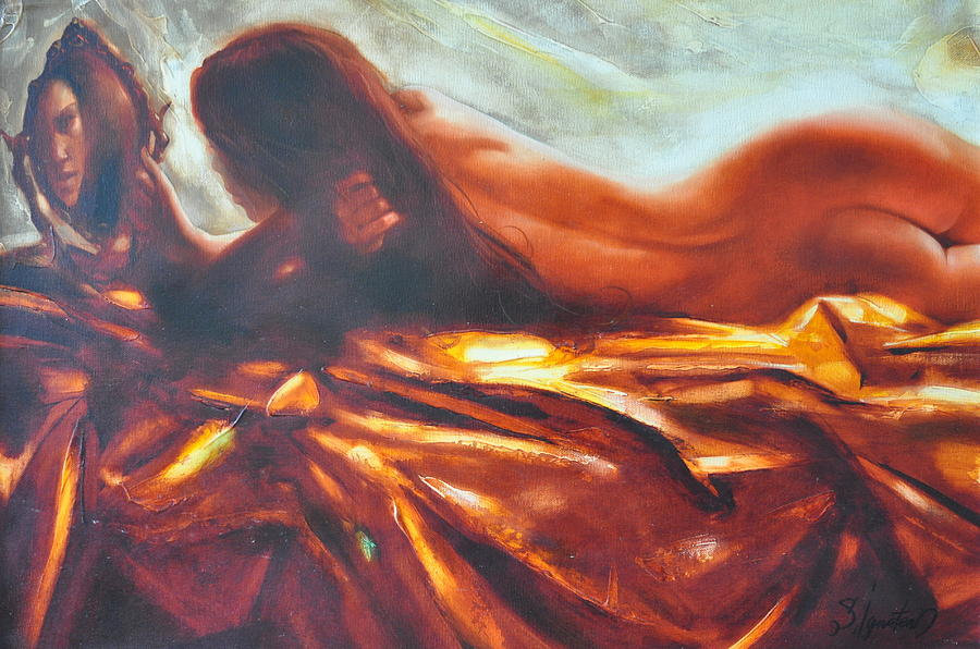 Painting Painting - The Amber Speck Of Light by Sergey Ignatenko