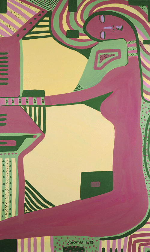 Women Painting - The American Beauty Box by Soraida Martinez