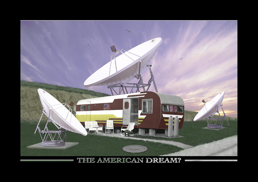 Mobile Home Photograph - The American Dream by Mike McGlothlen
