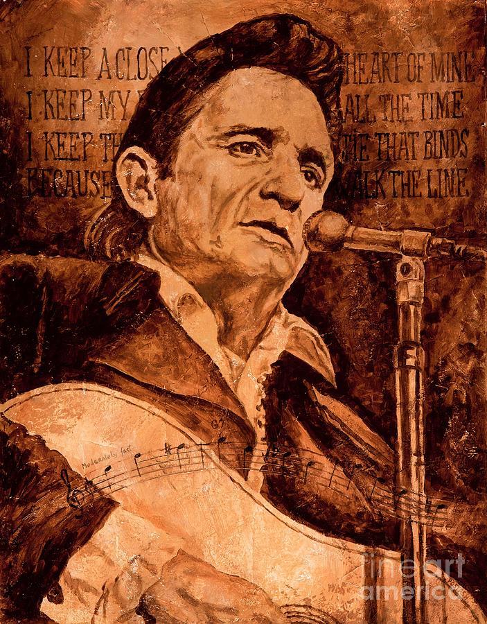 Johnny Cash Painting - The American Legend by Igor Postash