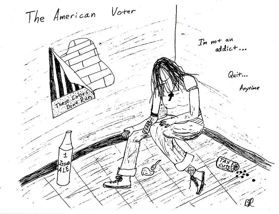 Junkie Drawing - The American Voter by David S Reynolds