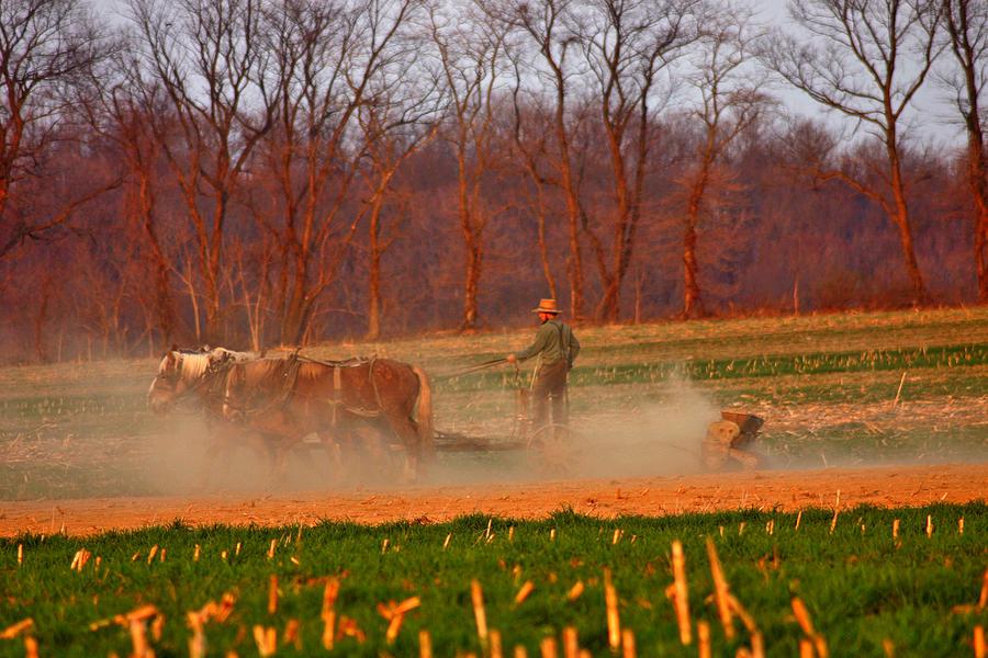 Amish Photograph - The Amish Way by Scott Mahon