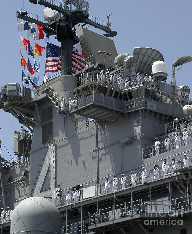 Color Image Photograph - The Amphibious Assault Ship Uss Boxer by Stocktrek Images