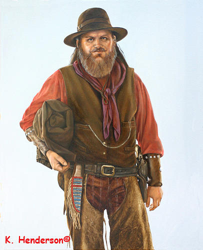 Cowboy Painting - The Amulet by K Henderson