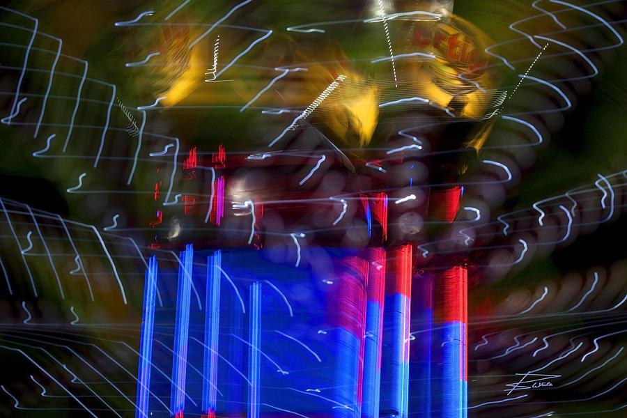 Vertigo Photograph - The Amusement Park by Barbara  White
