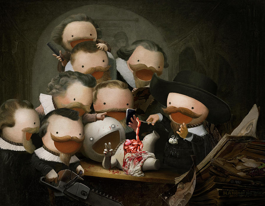 The Anatomy Lesson Digital Art by HANGBoY