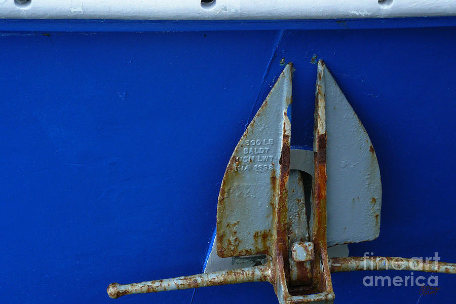 Anchor Photograph - The Anchor by Jeff Breiman