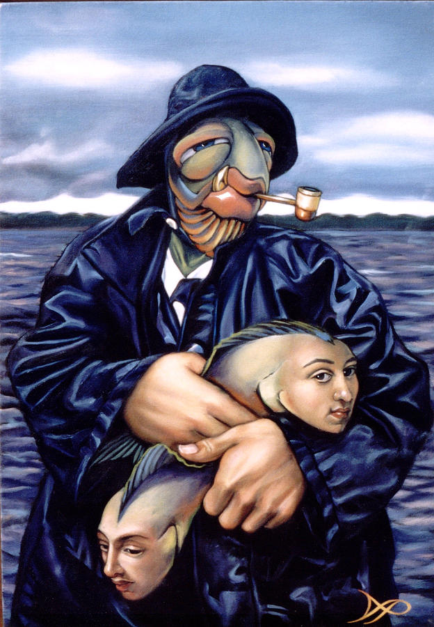 Fisherman Painting - The Ancient Mariner by Patrick Anthony Pierson