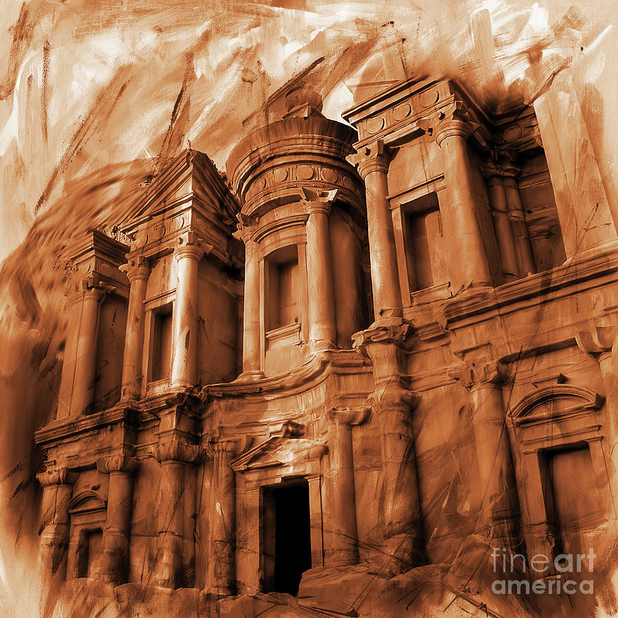 The Ancient Treasury Petra Painting By Gull G