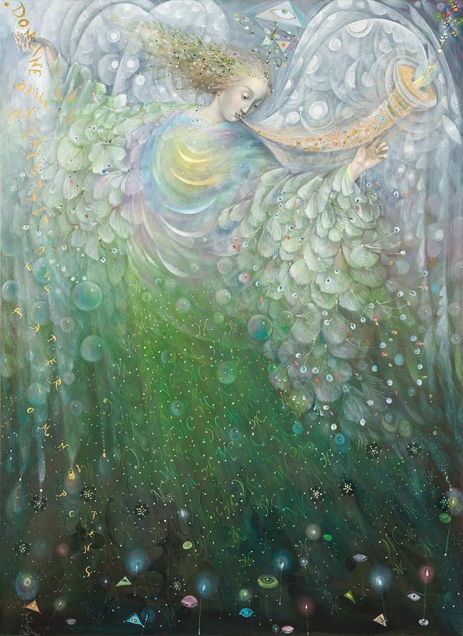 The angel of growth painting by annael anelia pavlova for Angel paintings for sale