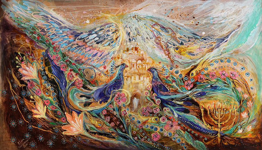 Wall Decor Painting - The Angel Wings #3 Spirit Of Jerusalem by Elena Kotliarker