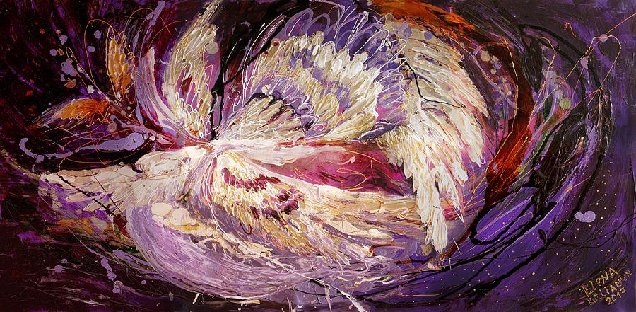 Judaica Store Painting - The Angel Wings #8 The Dance Of Spirit by Elena Kotliarker