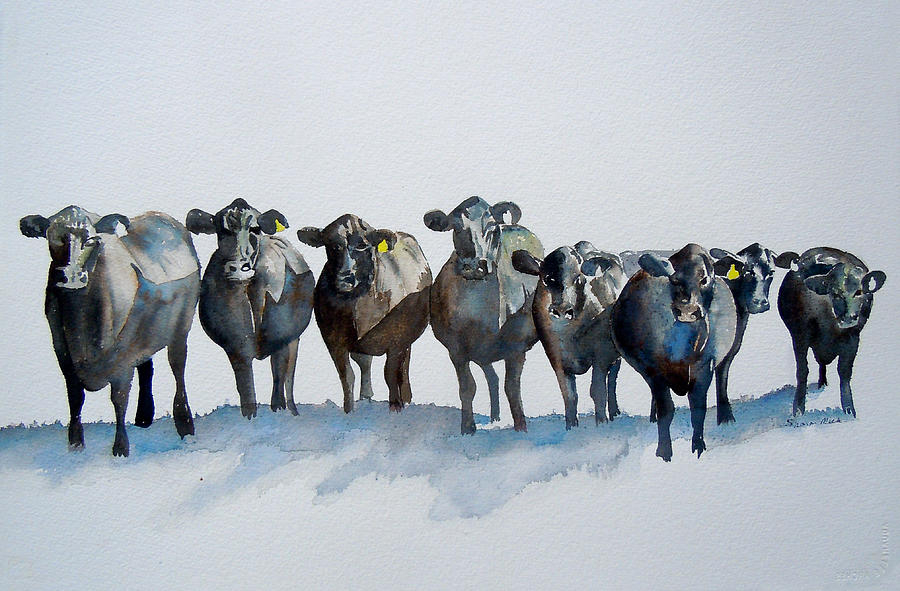 The Angus Eight Painting - The Angus Eight by Sharon Mick