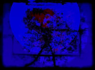 Blue Painting - The Annihilation Of Self by Peter Schwartz
