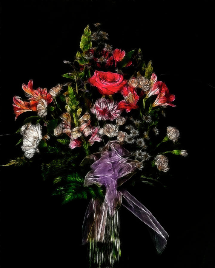 Flowers Photograph - The Anniversary Bouquet by Carol A Commins