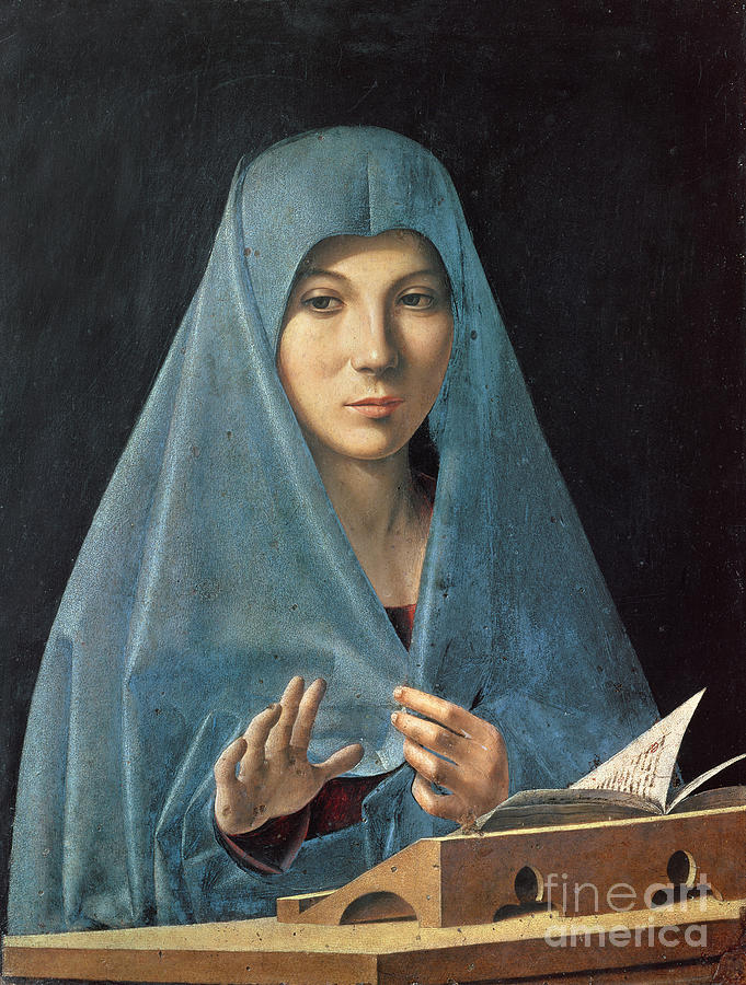 The Painting - The Annunciation by Antonello da Messina
