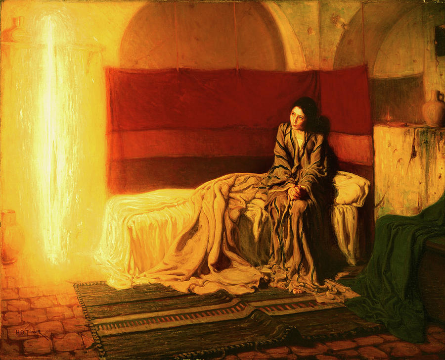 Henry Ossawa Tanner Painting - The Annunciation by Henry Ossawa Tanner
