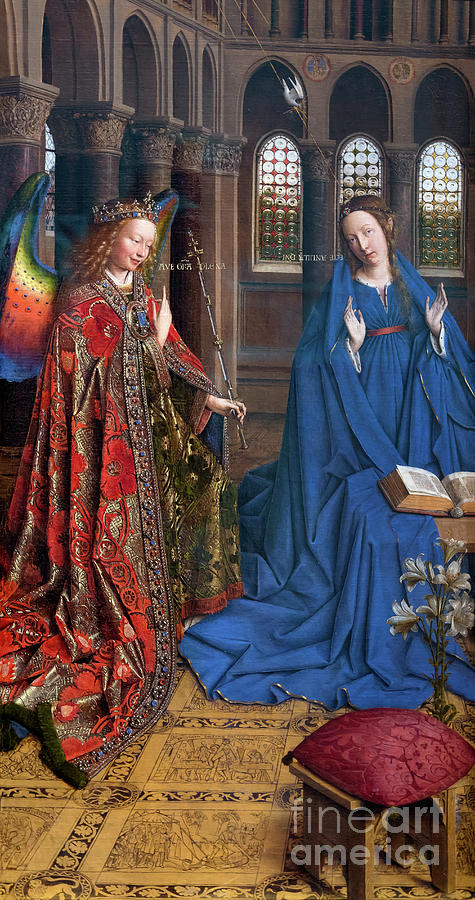 the annunciation jan van eyck circa 1435 national