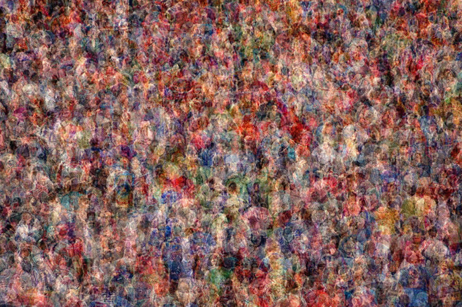 Crowd Photograph - The Anonymous Croud by Denis Bouchard