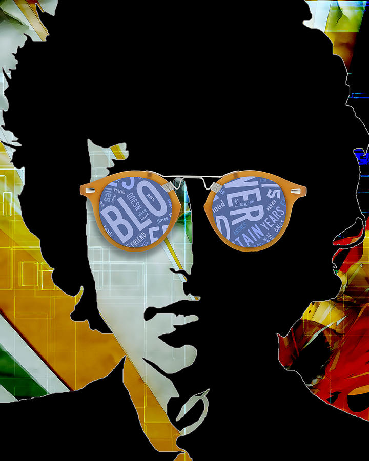 Bob Dylan Mixed Media - The Answer Is Blowin In The Wind. Bob Dylan by Marvin Blaine