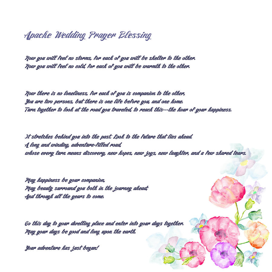 The Apache Wedding Blessing Long Version Drawing By