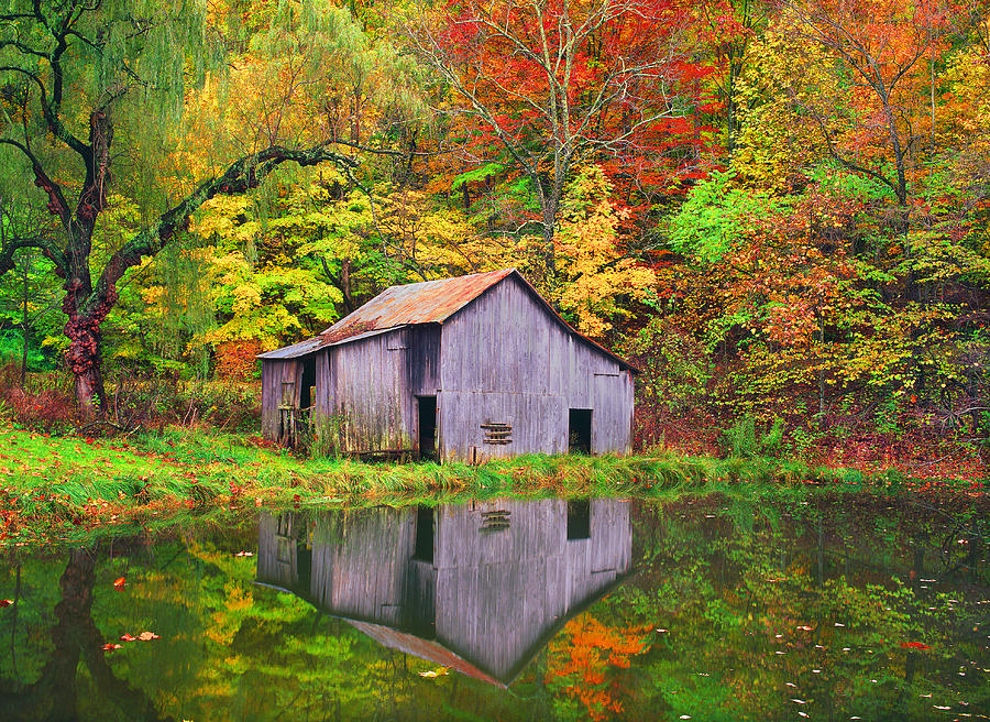 Lexington Photograph - The Appalachian Reflection by Bijan Pirnia