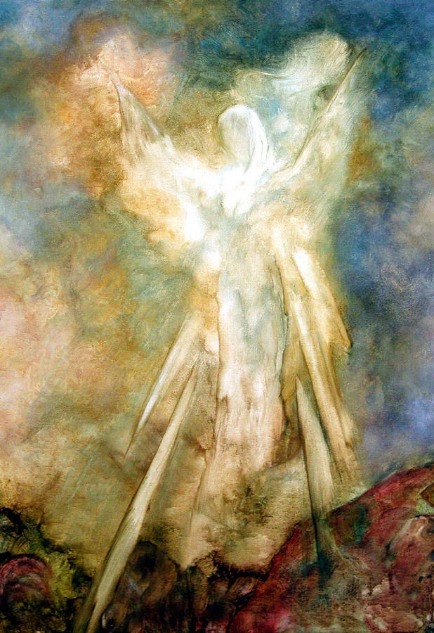 Angel Painting - The Appearance by Marina Petro