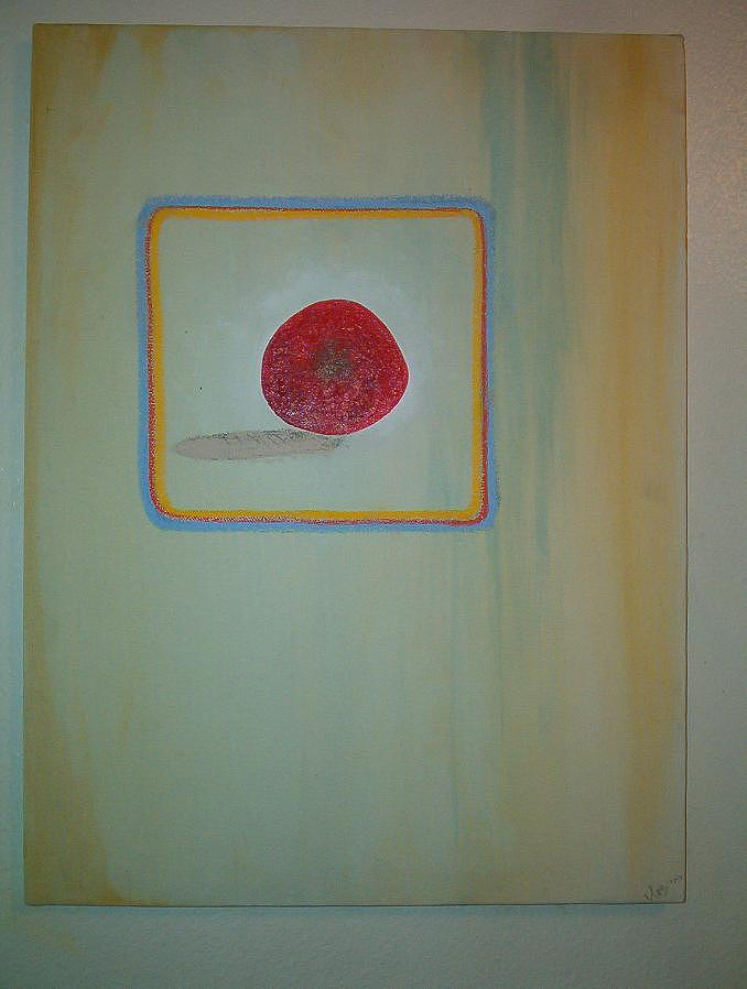 Apple Painting - The Apple Inside by Ingrid Block