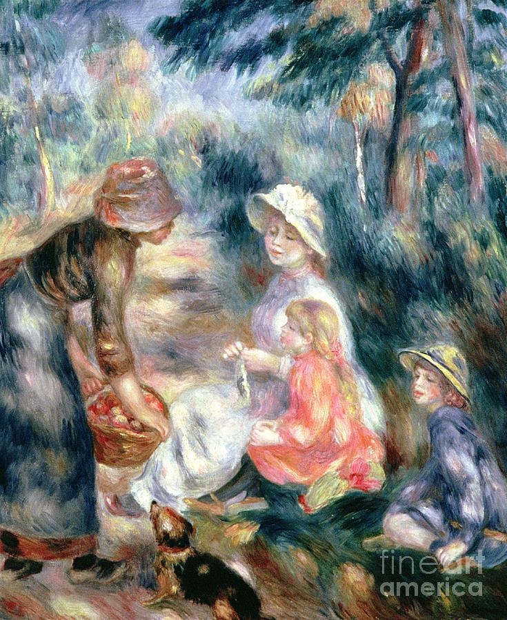 The Apple-seller Painting - The Apple-seller by Pierre Auguste Renoir