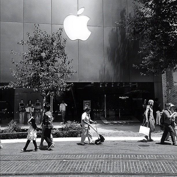 Apple Photograph - The Apple Store by Ric Spencer