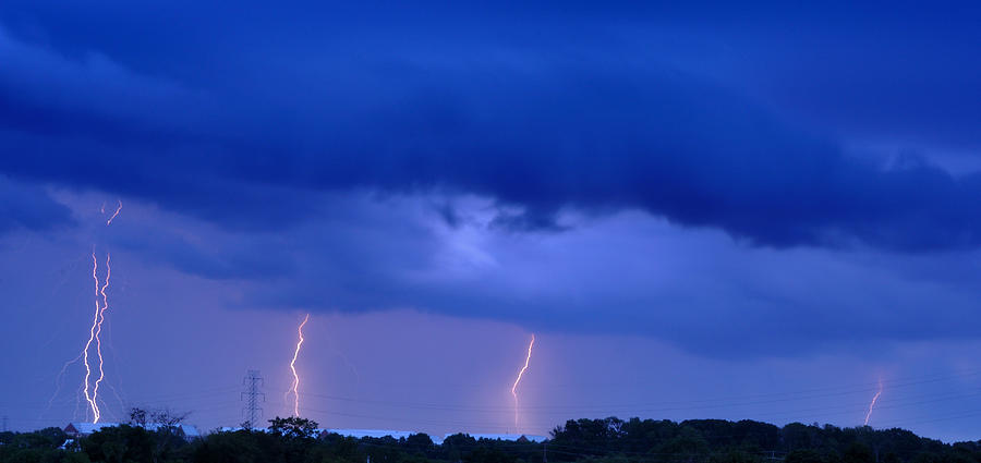Lightning Photograph - The Approching Storm by Mark Fuller