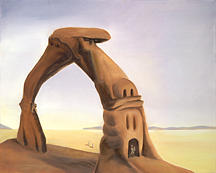 Whimsical Painting - the Arch at Bonneville by Sandi Snead