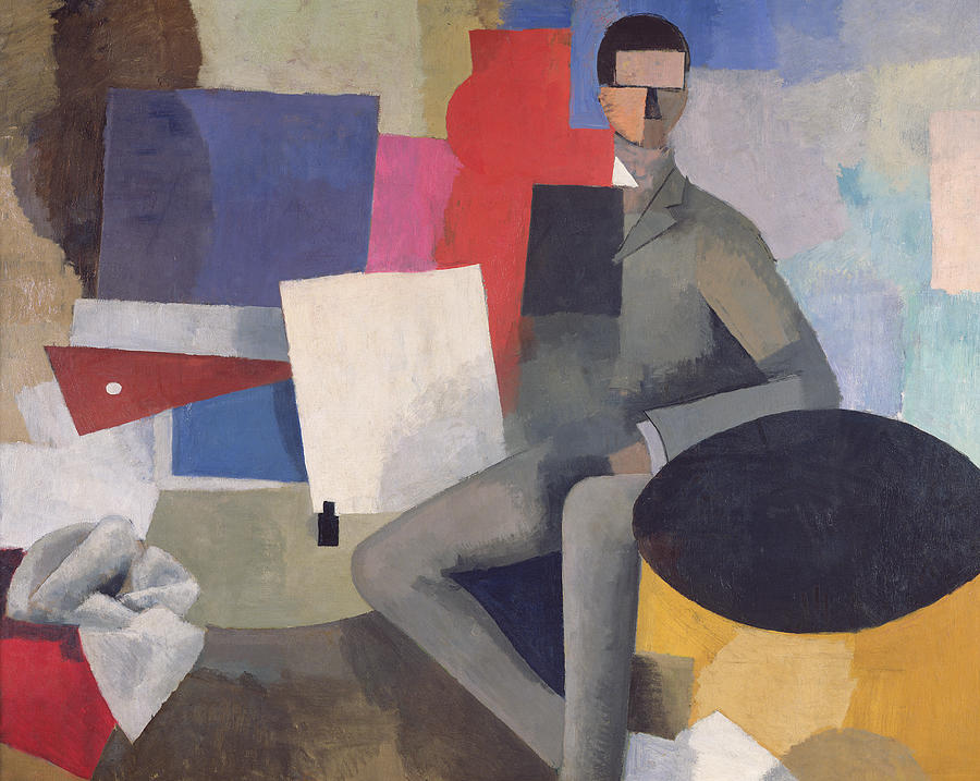 The Painting - The Architect by Roger de La Fresnaye