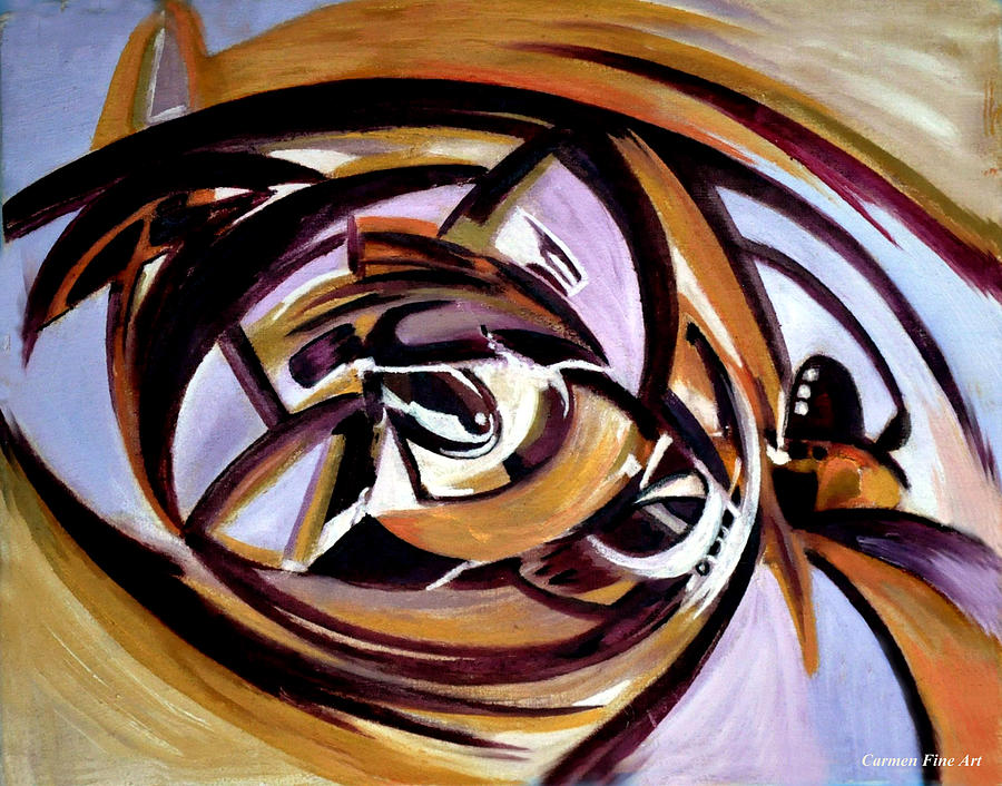 Oil Painting Painting - The Architectonic Autobiography by Carmen Fine Art