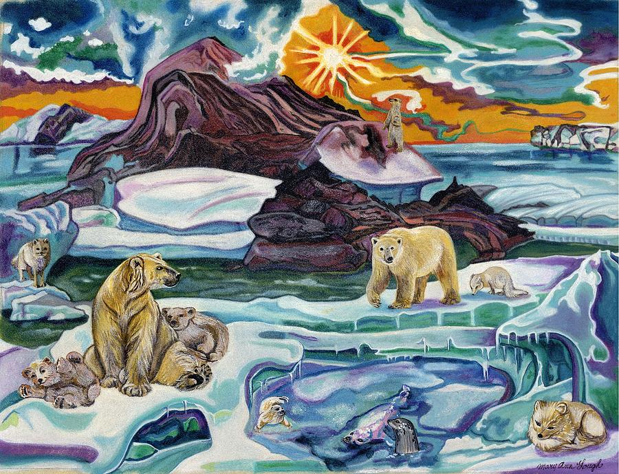 Artic Painting - The Arctic Wonderland by Mary Ann Gough